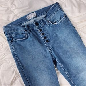 Free People ~ Reagan button front jean 28